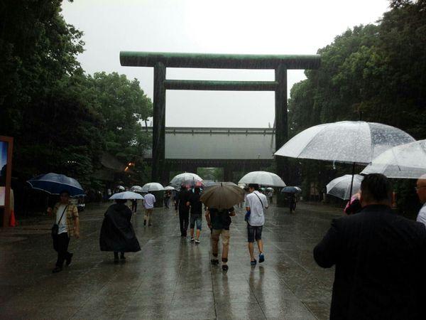 平成29年8月15日終戦の日、終戦の日、靖國神社にて戦没者礼拝