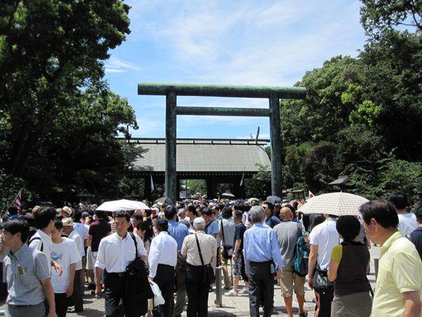 平成26年8月15日終戦の日、靖國神社にて戦没者礼拝