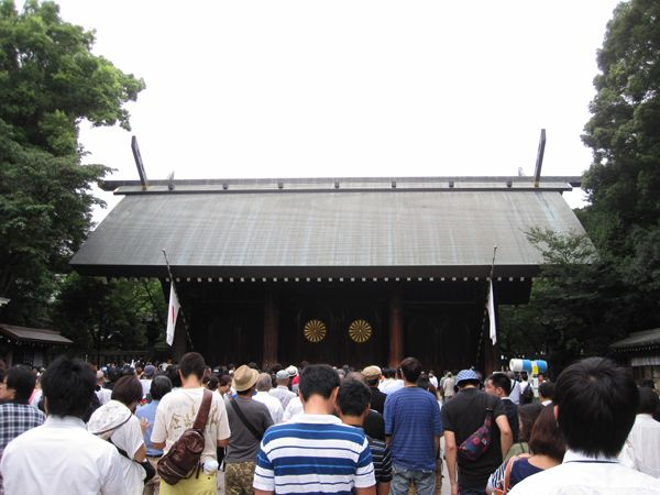平成27年終戦の日、靖國神社にて戦没者礼拝