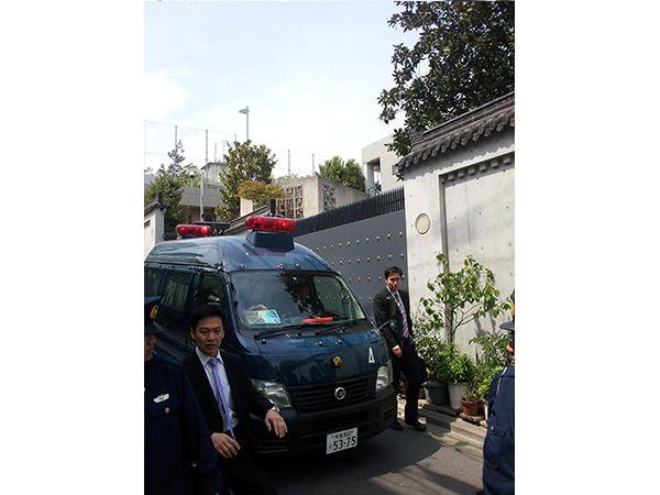 平成25年4月14日中国問題抗議行動(中国大使館)