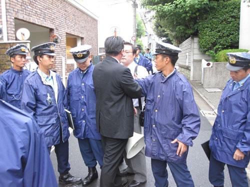 平成22年9月16日尖閣諸島海域中国漁船衝突事件、中国大使館へ抗議行動