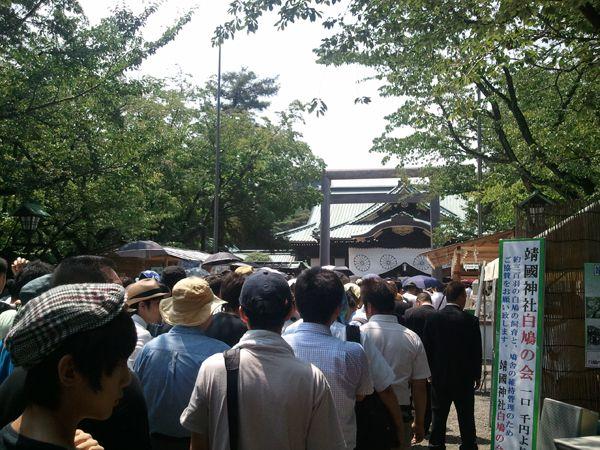 平成25年8月15日終戦の日、靖國神社にて戦没者礼拝