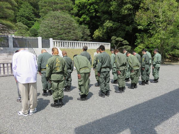 平成27年4月29日昭和の日、武蔵野御陵墓参