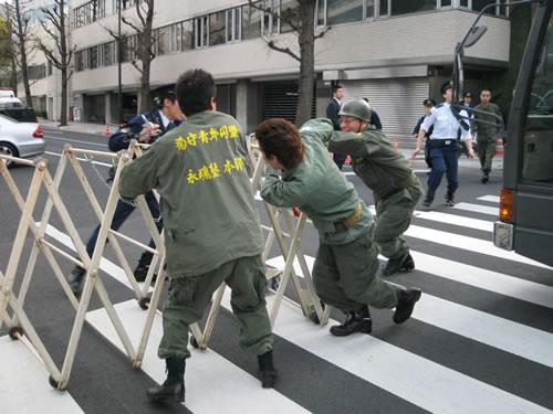 平成21年4月5日抗議行動[北朝鮮のミサイル発射問題]