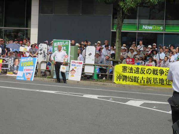 平成28年6月12日都内啓蒙活動、選挙問題・日本共産党演説会阻止行動
