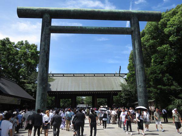 平成30年8月15日終戦の日、靖國神社参拝・黙祷