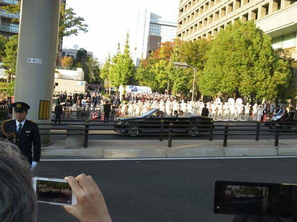 令和元年11月10日祝賀御列の儀 赤坂見附通過